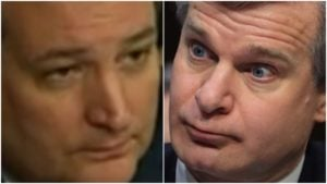 Ted Cruz to Christopher Wray: Either James Comey or Andrew McCabe are Lying; Which One? [VIDEO]